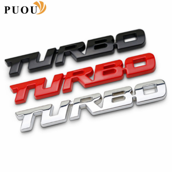 3D Metal Car sticker Turbo badge Accessories For BMW E46 E39 E90 E60 E36 F30 F10 E34 X5 E53 E30 F20 E92 E87 M3 M4 M5 X5 X6 image