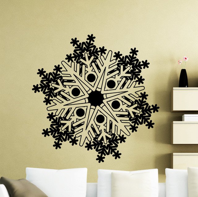 Snowflake Wall Decal Frozen Winter New Year Christmas Vinyl Sticker Home  Interior Decoration Waterproof High Quality