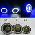 Высокое качество 3.5 Inch Высокой Мощности COB 30 Вт Автомобилей Противотуманные Фары Дневной Дальнего света DRL Супер Яркий COB Angel Eyes Противотуманные Фары Проектора