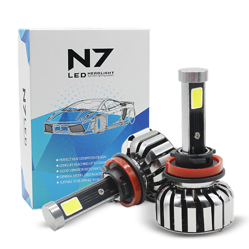 Super Bright LED Car Headlight H7 H11 80W 8000LM COB LED All-in-One Auto Bulb Automobiles Headlamp 6000K Car Light