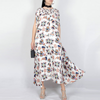 2018 Spring Summer New Abstract Colored Floral Prints Loose Two Pieces Type False Two Pieces Cloak