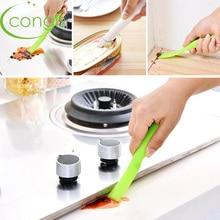 Congis 1PC Kitchen Stove Edge Clean Decontamination Double-Headed Scraper Multi-purpose Magnetic Brush For Washing Windows Gap