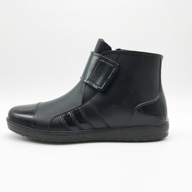 US $21.74 25% OFF|JOYHOPY PVC Wasserdichte Gummistiefel Für Männer Flach Mit Schuhe Regen Stiefel Mode Gummi Stiefeletten Schnalle MB2006 in JOYHOPY