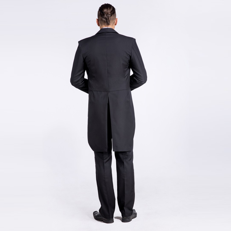 Matrimonio In Frac : Matrimonio nero abito uomo pantaloni da il doppio scialle pezzo 2