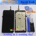 High Quality LCD Display + Digitizer Touch Screen Assembly For Xiaomi Redmi 2 2A Redmi2 Hongmi 2 Cellphone 4.7 inch With Frame