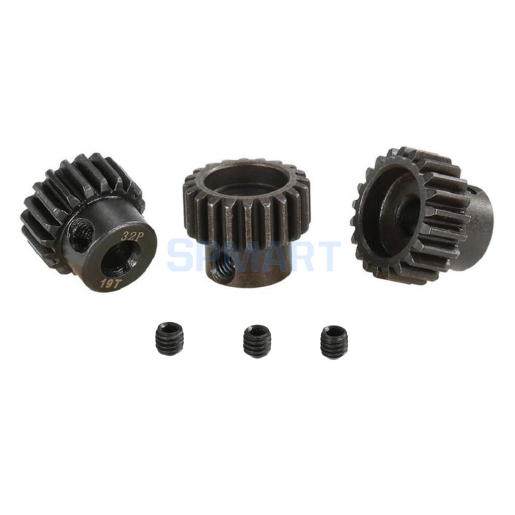 32DP 5mm 19T-21T Pinion 32DP Motor Gears Set for 1/8 RC Car DIY Accessories