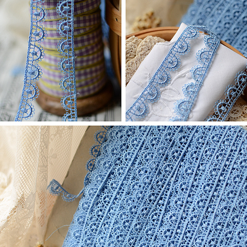 Princess Vintage Water Soluble BLUE Lace Trim For Wedding
