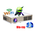 Android Wifi 3000 Lúmenes HDMI VGA USB TF 3D Blue Ray Portátil LCD de Video LED Mini Proyector DLP Proyector fUll hD Beamer Projetor