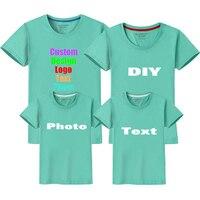 טקסט מותאם אישית תמונה לוגו מותאם אישית מודפס חולצת טריקו משפחת הורה לילד נשים גברים זוגות אוהבי ילד ילדי ילדה ילד T חולצה למעלה