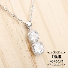 Women White Zircon Silver 925 Jewelry Sets Bracelets Pendant Necklace Rings Earrings With Stones Set Jewelery Free Gift Box