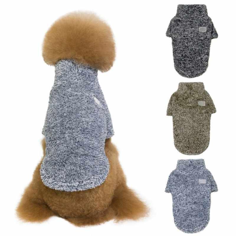 Утепленные Собака Куртка Одежда для собак для маленьких собак Pet Пальто Теплая зима щенок Костюмы Йорки Чихуахуа вельвет одежда Перро