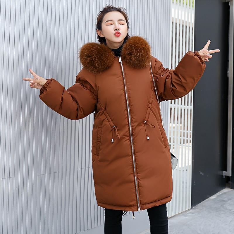 Longue 2018 Parka Jaqueta Manteaux Red D'hiver army Green Coton marron Manteau dark Rembourré Beige Chaud Inverno Veste Feminina Femmes noir Épaissir Capuche Fourrure XqrXOwY