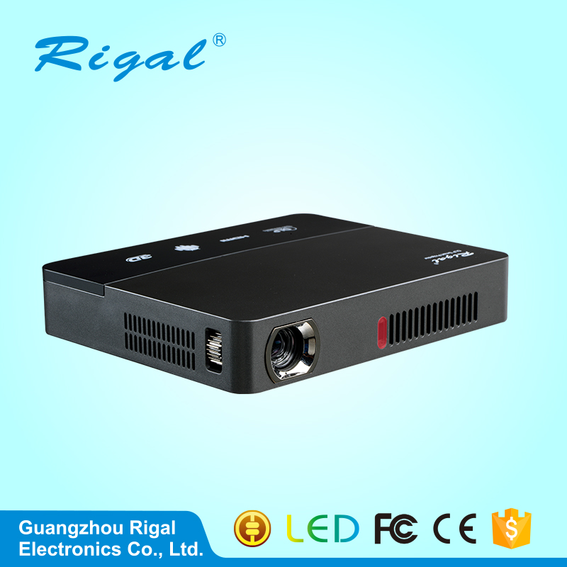 Android 4 4 DLP Projector Wifi Mini Projector Full HD 3D Proyector Home Theater 1200 800