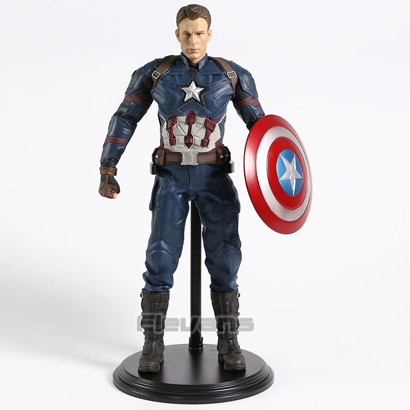 Marvel Civil War Captain America Statue 1 6 Scale Collectible Figure Model Toy