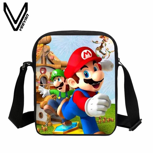 VEEVANV Super Mario Printing Handbag Women Messenger Bags Children School  Bookbag Shoulder Bag Fashion Girls Purse Crossbody Bag 372206d7d5fd9