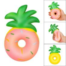 Doughnut Pineapple Rising Squishy Charms Milk Bag Toy Slow Rising for Children Adults Relieves Stress Anxiety Cabinet Decor 20#(China)
