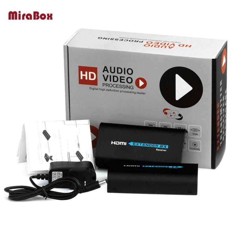 120 м 1080 P HDMI удлинитель по Ethernet tcp/ip по RJ45 CAT5 CAT6 для HD DVD PS3, HDMI сплиттер, hdmi передатчик и приемник Extender