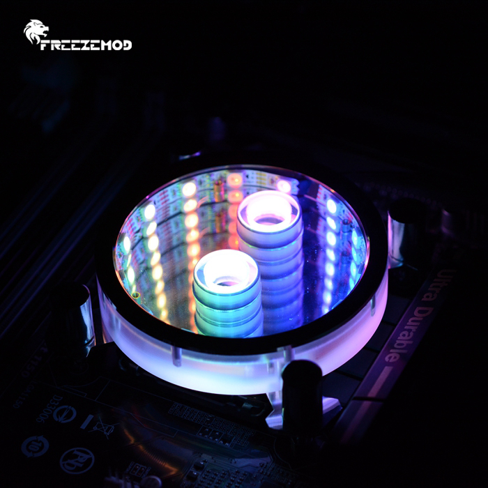 FREEZEMOD computer CPU water cooling block 2019 new Starry sky RGB gradient effect Intel PR XPM