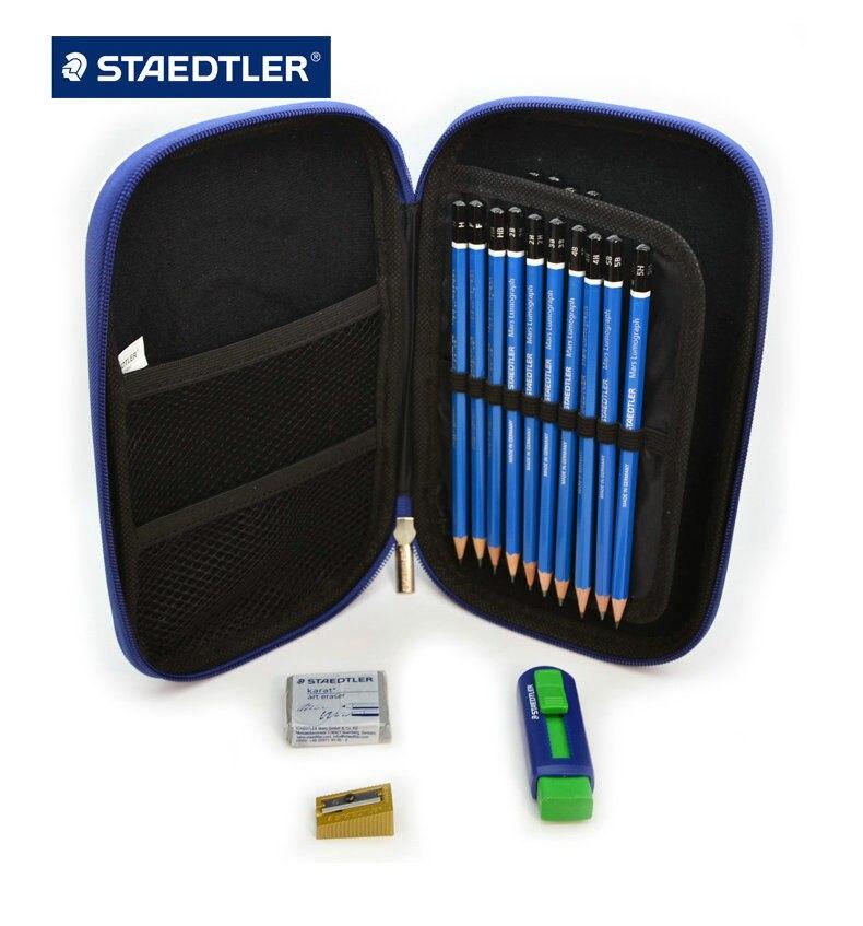 Премиум качество Staedtler 100 Mars Lumograph завершить рисунок Портативный чехол Комплект-in Простые карандаши from Офисные и школьные принадлежности