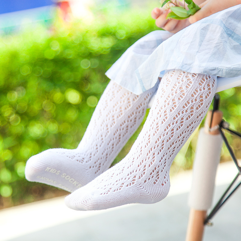 Spring Baby Girl Socks Cotton Breathable Non-slip Baby Girls Socks Cute Hollow Summer So ...