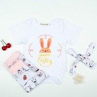 11 23 Per Vieeolove Baby Girls Sets Spring Short Sleeve Romper Cartoon Animal Pants Headband