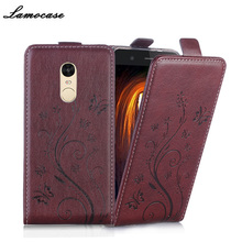 Luxury Leather Case For Xiaomi Redmi Note 4 Flip Cover Cases For Hongmi Note 4 Phone Cover Bags Protective Lamocase brand