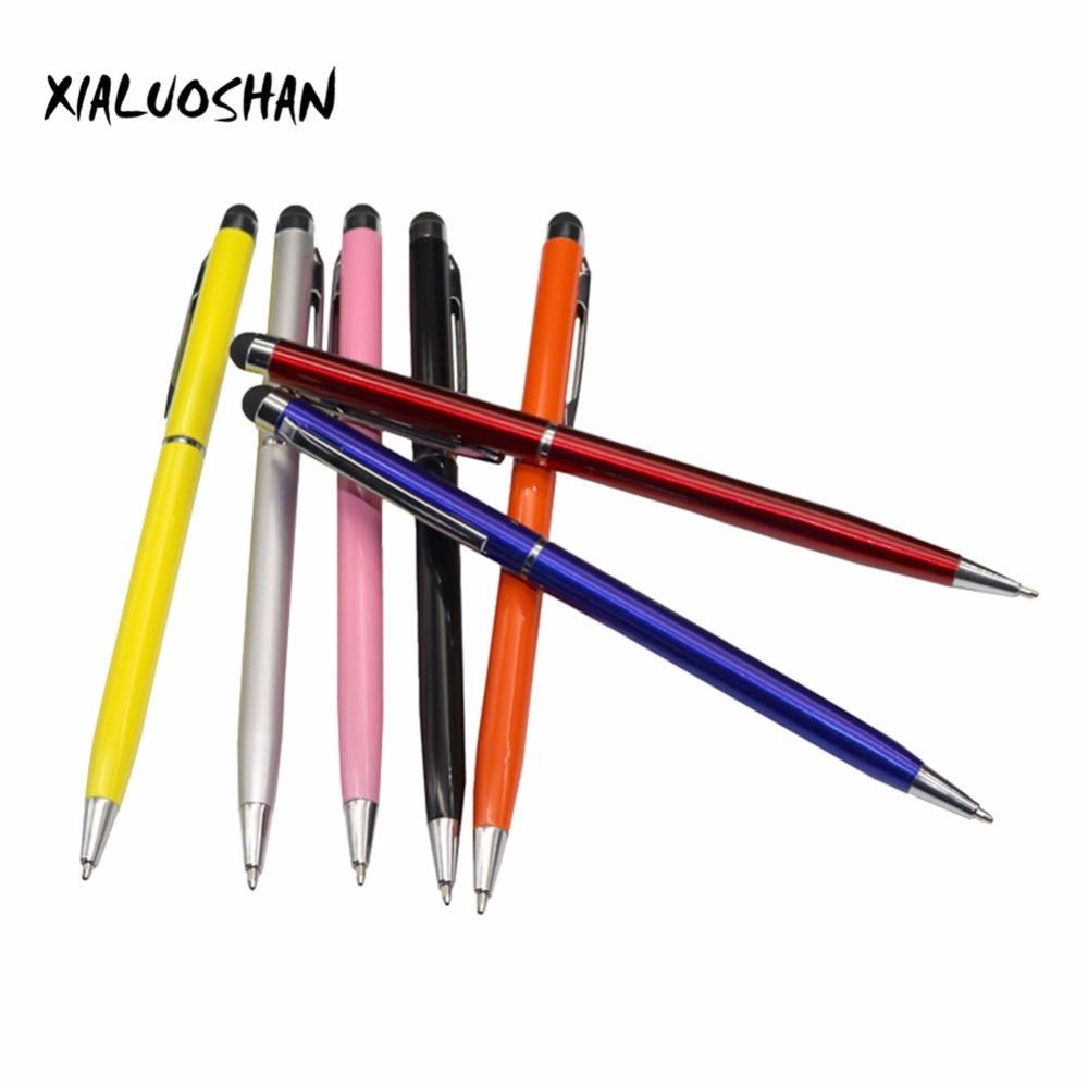 2 Pcs Touch Capacitive Ballpoint Pen School Supplies Office Blue Ink Pen School Writing Gift Pen Metal Ballpoint Pen Portable стоимость