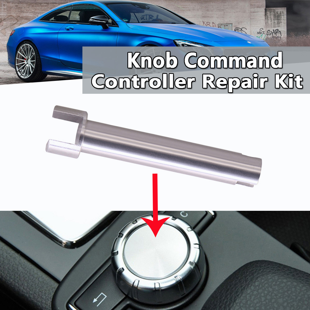 New Knob Command Console Controller Rotary Switch Button Scroll Knob Shaft Repair Fix Kit Universal For Benz W204 X204 W212 W218 53000459