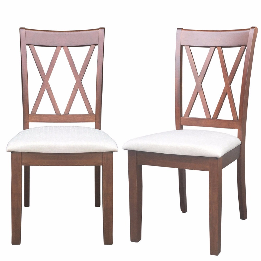 Tremendous Giantex Set Of 2 Dining Side Chairs Fabric Upholstered Seat Armless High Back Furniture Home Furniture Hw58877 Gmtry Best Dining Table And Chair Ideas Images Gmtryco