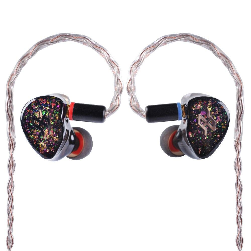 TENHZ T5 5BA dans l'oreille écouteur unité d'entraînement 5 Armature équilibrée HIFI dans l'oreille surveillance écouteurs avec détachable MMCX câble P4 PRO