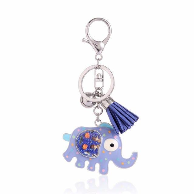 Cute Enamel Elephant Key Chains for Women Girl Bag Charm Animal Key Chain Metal Pendant Jewelry Trendy Girl Zinc Alloy Keychian