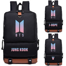 Youpop KPOP BTS Bangtan Boys Album Love Yourself SUGA V JIMIN RM Photo Nylon School Bags Jewelry Admission Package Cosmetic B027(China)