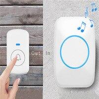 Upgrade AC 100 240V Wireless Doorbell No Battery Need Waterproof Home Wireless Door Bell Door Ring