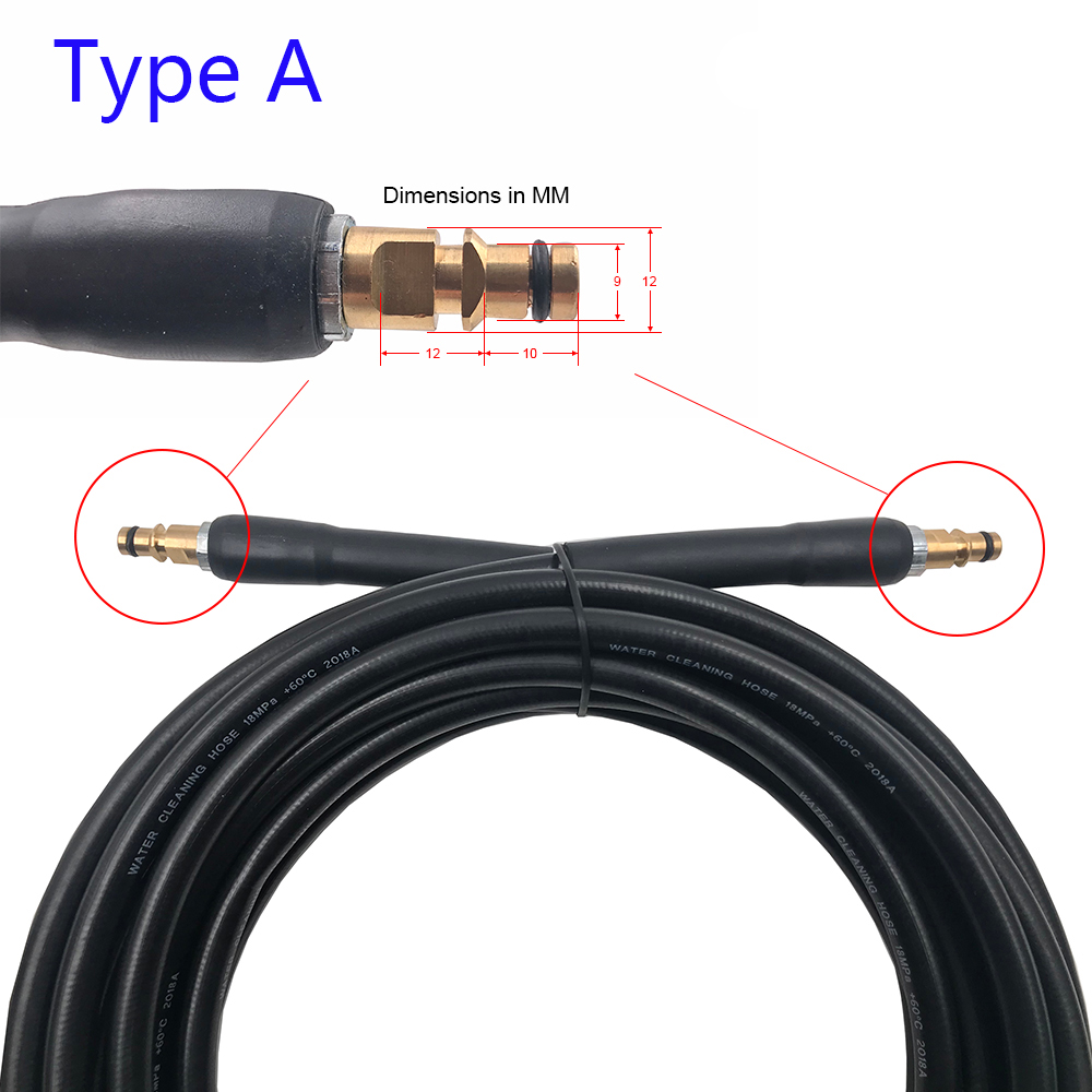 Image 2 - 6 8 10 15 meters High Pressure Washer Hose Car Washer Water Cleaning Extension Hose for Karcher K2 K3 K4 K5 K6 K7-in Water Gun & Snow Foam Lance from Automobiles & Motorcycles
