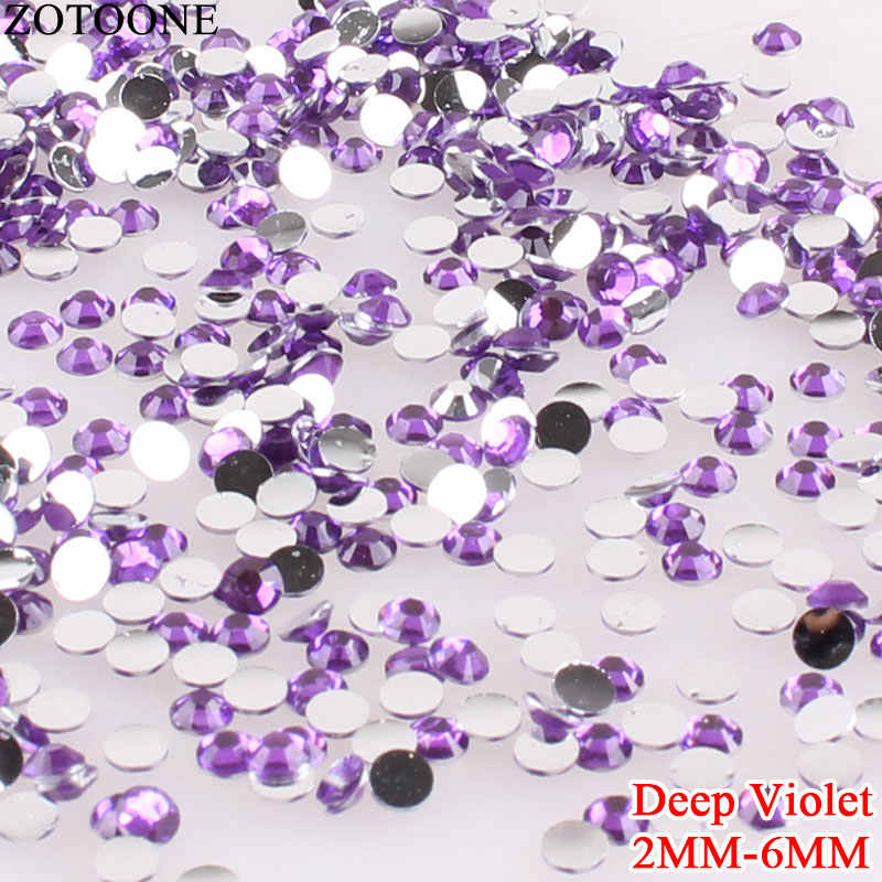 ZOTOONE Deep Violet Resin Rhinestone For Nail Art Decoration Strass Flatback  Non Hotfix Crystal Rhinestones For da241bf1586e