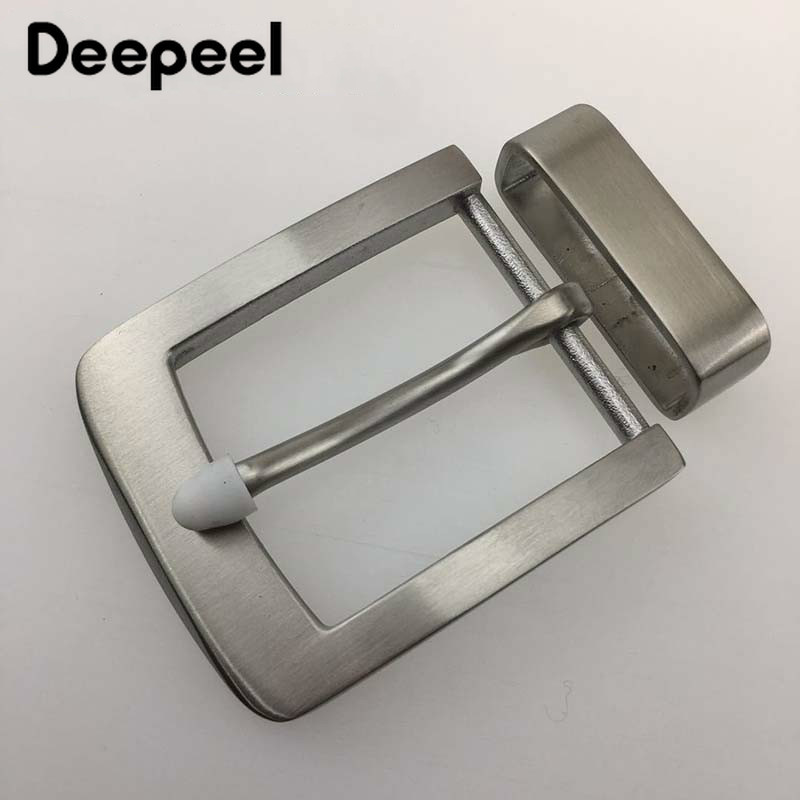 Deepeel 40mm Fashion Men Belt Buckles Stainless Steel Metal Pin Buckle For Belt 38-39mm DIY Hebilla Para Cinturones Hombre KY954