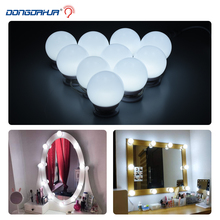 Makeup Mirror LED night Lights 10 Hollywood Vanity Bulbs for Dressing Table with Dimmer with US UK EU Plug