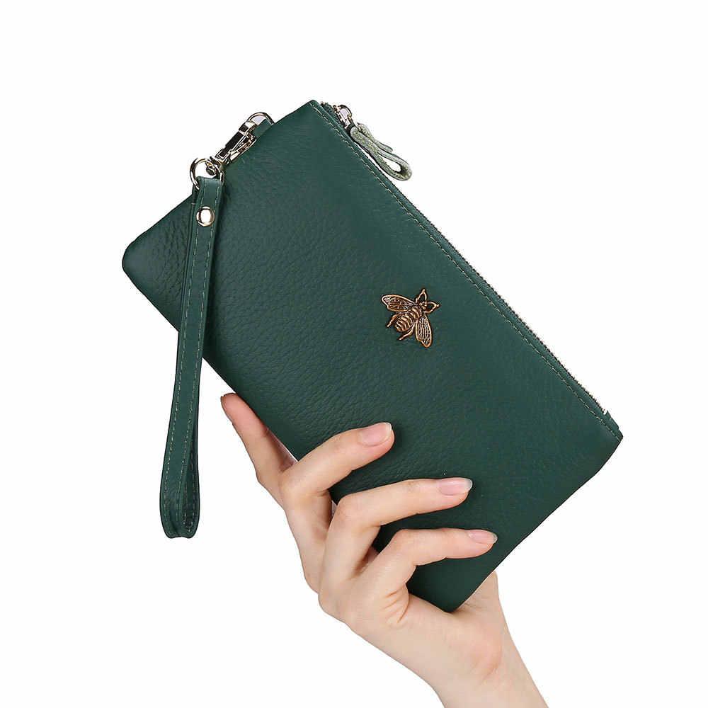 Кошелек женский брендовый дизайн Portefeuille Femme из натуральной кожи женский кошелек-клатч модные длинные клатчи Carteira Feminina