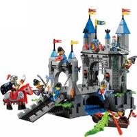 טירת מתנות להאיר אבני בניין צעצועים לילדים חינוכיים אבירי אביר מגיבורי נשק סירת סוס Legoe תואם