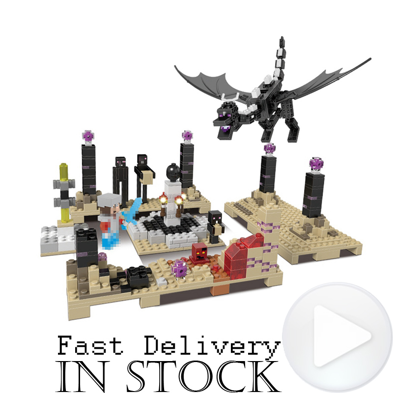 Xingbao 678Pcs Minecraft The Ender Dragon Model Mini Building Blocks Bricks DIY Figures Educational Toys for Children Gift hot sale 1000g dynamic amazing diy educational toys no mess indoor magic play sand children toys mars space sand