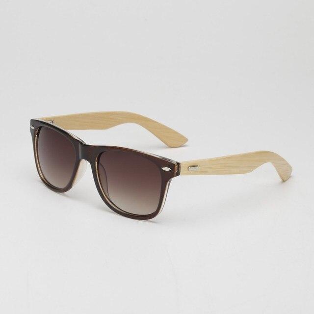 Moda Mężczyźni Bamboo Okulary Drewniane Okulary Nogi Okulary Gogle Okulary 13 Kolory LY6