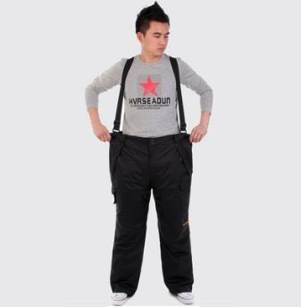 Black Winter Men Snowboard Pants Outdoor Hiking Ski Pants Skiing Waterproof Breathable Ski Trousers Man's big skiing pants