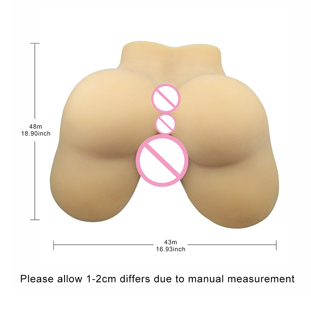 New Artificial Real Vagina Ass Doll, 100% Silicone Sex Ass Doll for Men, Realistic Big Ass Doll for Men, Sex Products new cross dress pants female genital realistic vagina sex toy artificial crossdress vagina transgender crossdress for men