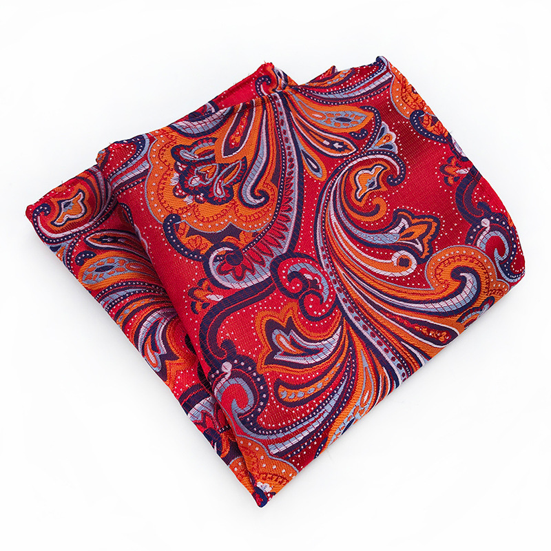 2018New Silk Big Flower Paisley Suit Pocket Square Men Square Handkerchief