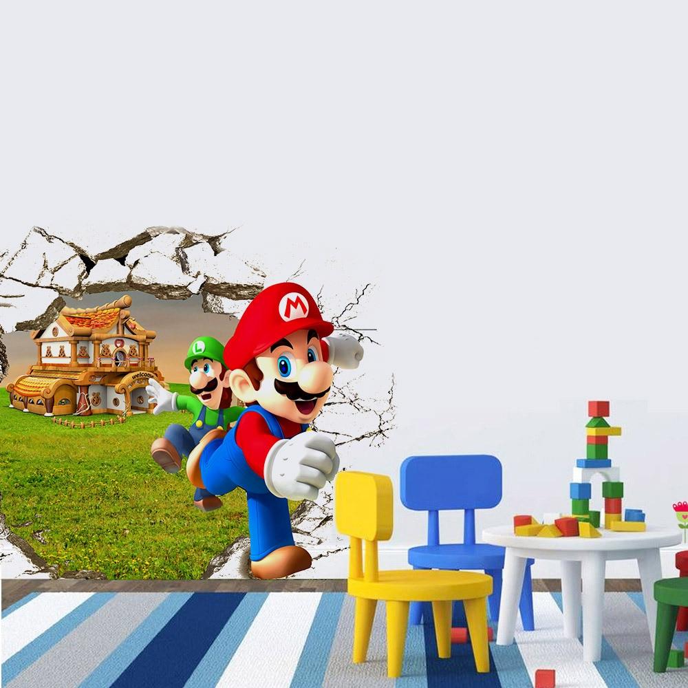 Neueste 2 Größen Beliebt Spiel Poster 3D Super Mario Bro Wand ...
