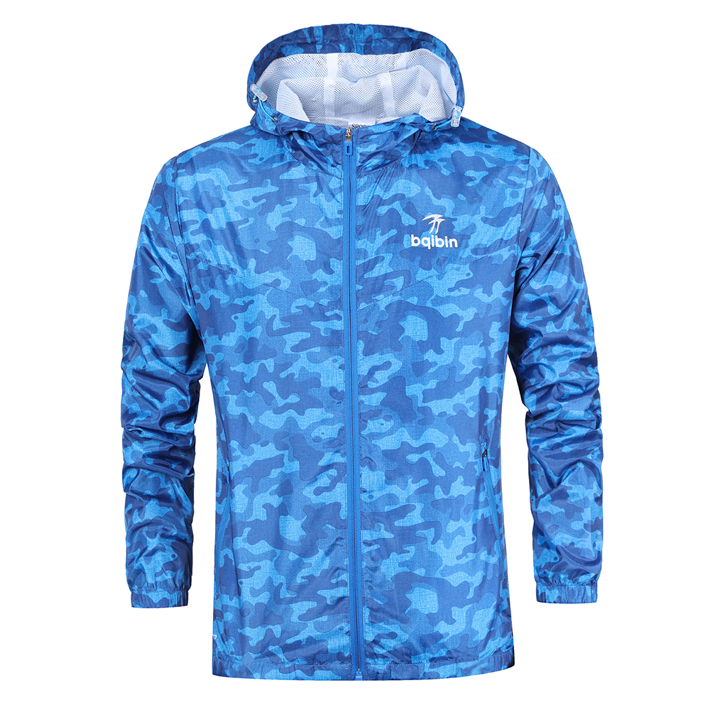 3XL Plus Size 2019 Spring Autumn Mens Casual Camouflage Hoodie Jacket Men Waterproof Clothes Men's Windbreaker Coat Male Outwear