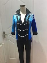 YURI on ICE YURI Skating suit cosplay costume Halloween dress anime Free Shipping custom made purple