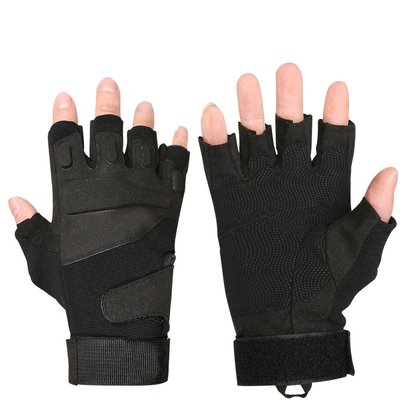 Military tactics combat air gun fitness half finger gloves outdoor sports riding gloves mountain climbing wear sunscreen gloves цена 2017