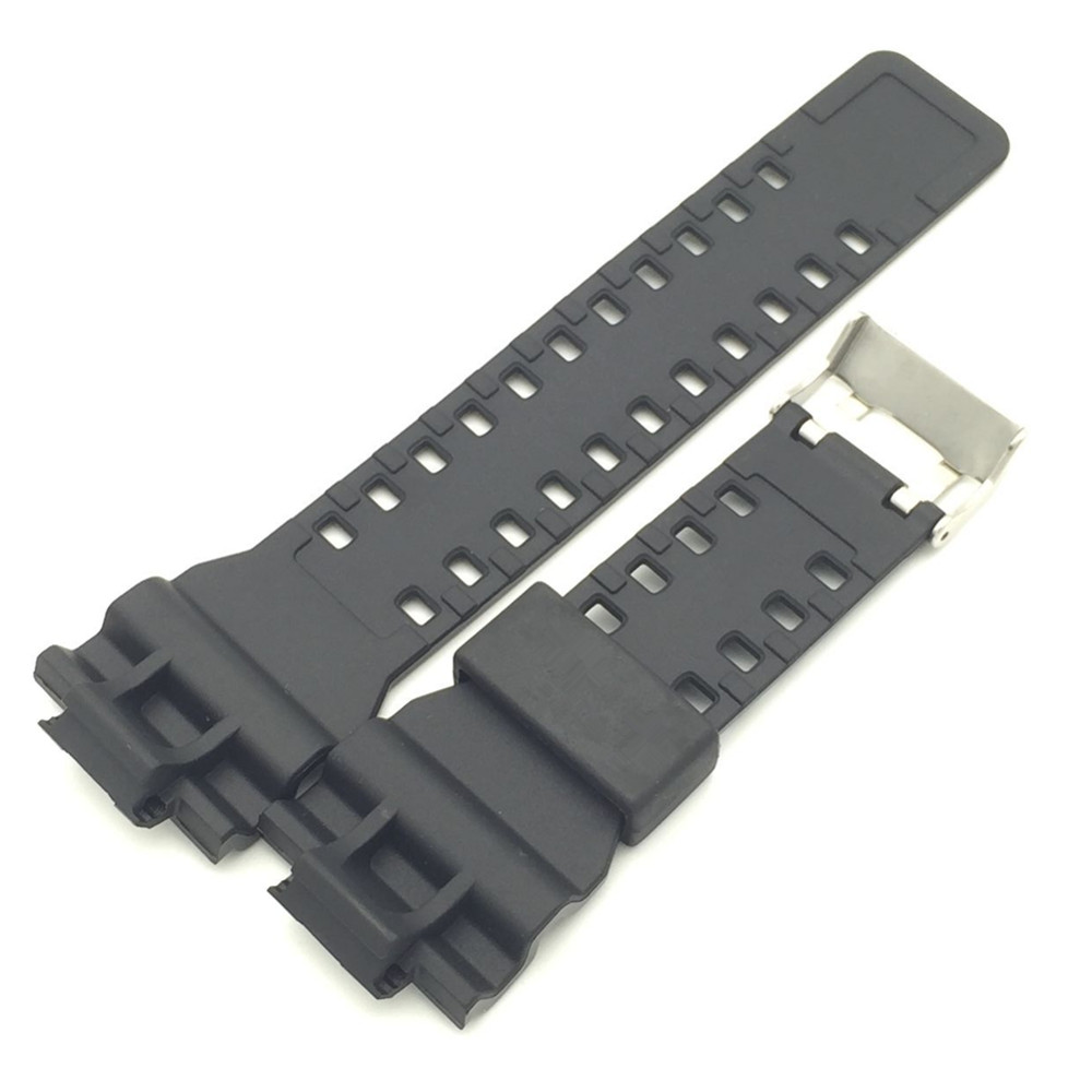 New Brand 16mm Black Watch Strap For DW 5600 DW 5700 G 8900 GD110 GA110 Watch Band Tool in Watchbands from Watches