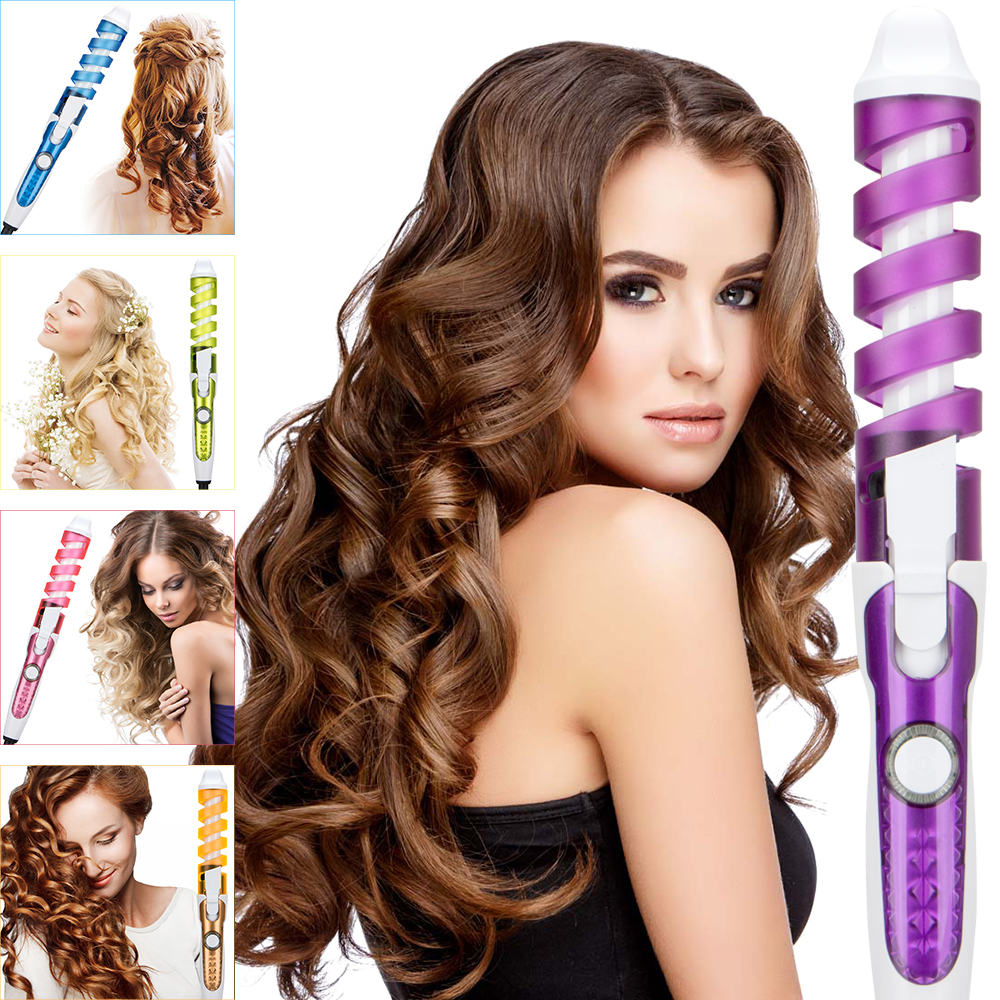 2018 Professional Hair Curler Magic Spiral Curling Iron Fast Heating Curling Wand Electric Hair Styler Pro Styling Tool ckeyin 9 31mm ceramic curling iron hair waver wave machine magic spiral hair curler roller curling wand hair styler styling tool